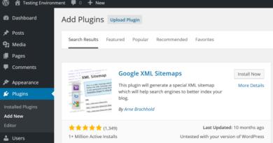 Plugin Google XML Sitemaps pour Wordpress