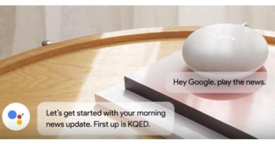 Informations avec Assistant vocal Google Home