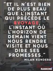 citation voyage airbnb milan kundera rankone